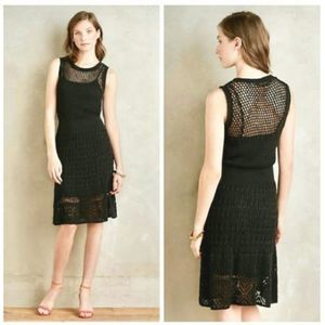 Anthro Knitted & Knotted Nightland Crochet Dress